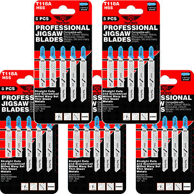 25 x TopsTools T118A Jigsaw Blades for Dewalt Bosch Makita Milwaukee and Others