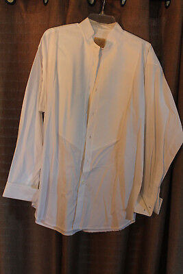 134b710d Men's Stubbs Western Wear Long Sleeve Shirt NWT White French No Buttons Size  L