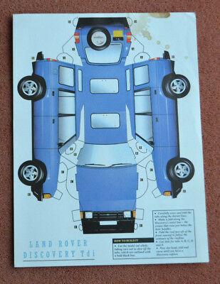 Cut-and-build card Land Rover Discovery c1990