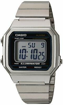 Casio Men's Quartz Illuminator Alarm Silver-Tone Bracelet 43Mm Watch B650wd-1A