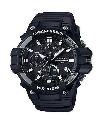 Casio Men's Quartz Chronograph Black Resin Band 50Mm Watch Mcw110h-1Av