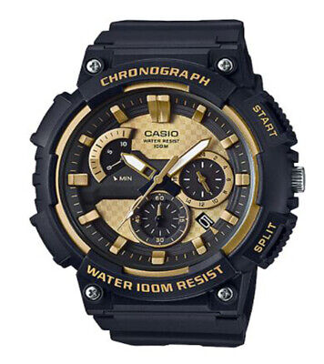 Casio Men's Quartz Chronograph Black Resin Band 53mm Watch MCW200H-9AV