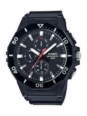 Casio Men's Quartz Diver Rotating Bezel Black Resin Band 48mm Watch MRW400H-1A