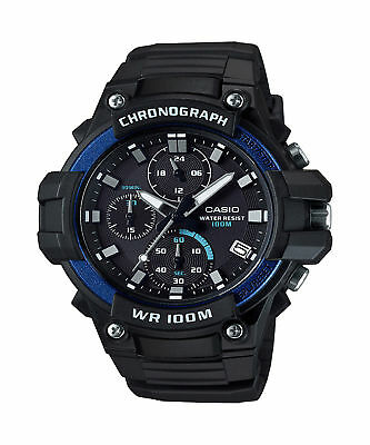 Casio Men's Quartz Chronograph Date Black Resin Band 50Mm Watch Mcw110h-2Av