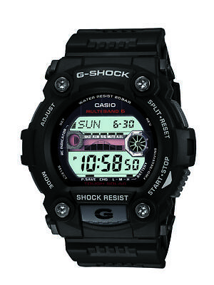 Casio G-Shock Men's Tough Solar Multi-Band 6 Black Resin 50mm Watch GW7900-1
