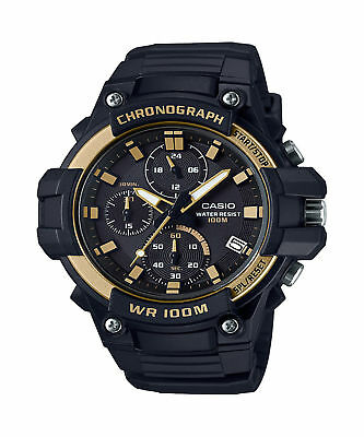 Casio Men's Quartz Chronograph Black Resin Band 50Mm Watch Mcw110h-9Av