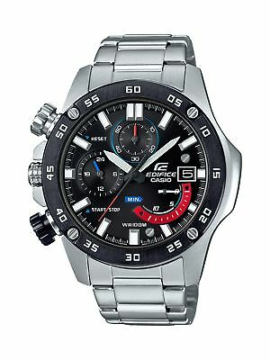 Casio Edifice Men's Quartz Chronograph Silver-Tone Band 48mm Watch EFR558DB-1A