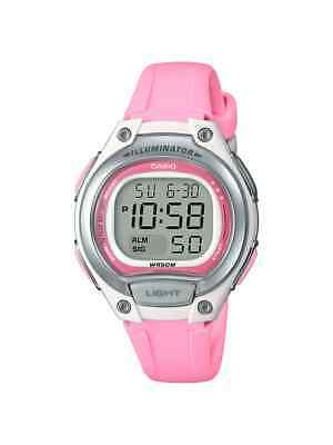 Casio Women's Quartz Digital Illuminator Pink Resin Band 34Mm Watch Lw203-4A