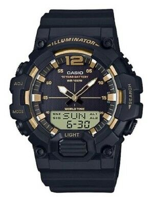 Casio Men's Quartz Analog-Digital Black Resin Band 49Mm Watch Hdc700-9Av