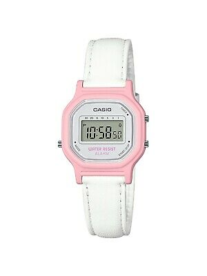 Casio Women's Quartz Digital Pink Case White Band 26mm Watch LA11WL-4A