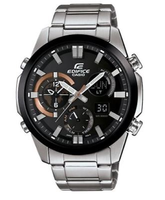 Casio Men's Quartz Chronograph Silver-Tone Bracelet 45mm Watch ERA-500DB-1A