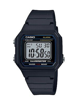 Casio Men's Quartz Square Digital Black Resin Strap 41mm Watch W217H-1AV