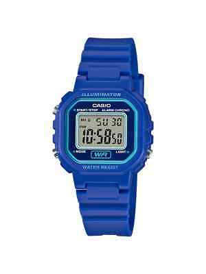 Casio Women's Quartz Illuminator Digital Alarm Blue Resin 30.5Mm Watch La20wh-2A