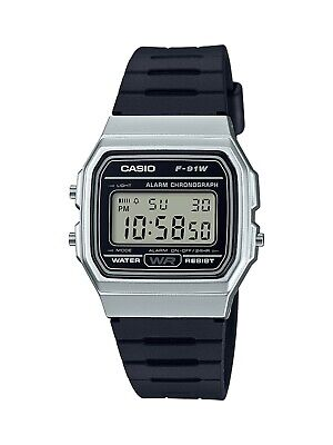 Casio Men's Quartz Digital Databank Black Resin Band 30Mm Watch F91wm-7A