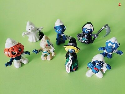 8 Halloweenschlümpfe Smurf Collection Puffi Pitufo Schtroumpf