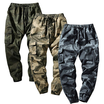 COMBAT Military Men's Cotton Cargo Pants Camouflage Camo Army Style Trousers New