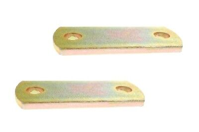 2 x MAYPOLE HIGH TENSILE ZINC COATED 'U' BOLT PLATE 60MM x 6MM MP919B