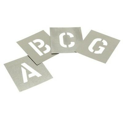 Stencils L1W Set of Zinc Stencils - Letters 1in Walleted