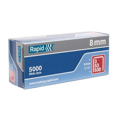 Rapid 11857050 53/8B 8mm Galvanised Staples Box of 5000