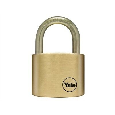 Yale Locks Y110/50/127SS/1 50mm Brass Padlock / Stainless Shackle