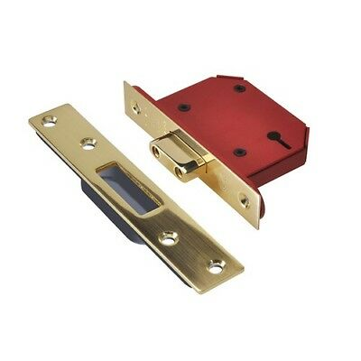 UNION Y2103S-PB-2.5 StrongBOLT 3 Lever Mortice Deadlock Polished Brass 68mm 2.5