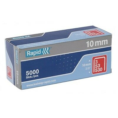 Rapid 11858810 53/10B 10mm Galvanised Staples Box of 5000