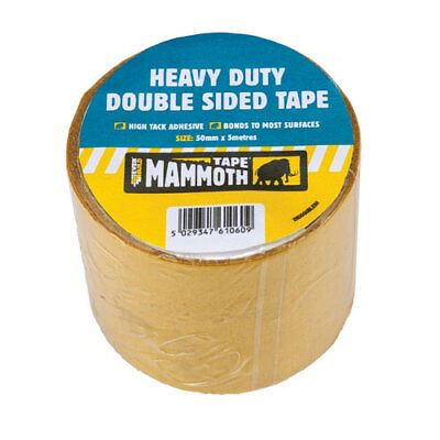 Everbuild 2HDDOUBLE50 Heavy Duty Double Sided Tape Beige 50mm x 5 Metre
