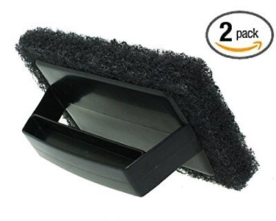 2 Pack Bbq Grill Brush Barbecue Cleaning Tool Scrapers Grid Scrubber Scrub Pads