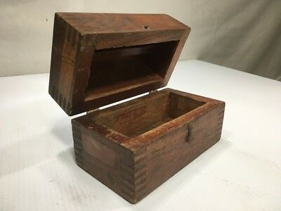 vintage solid wood box hinges rustic antique dovetail corners hinged chest decor