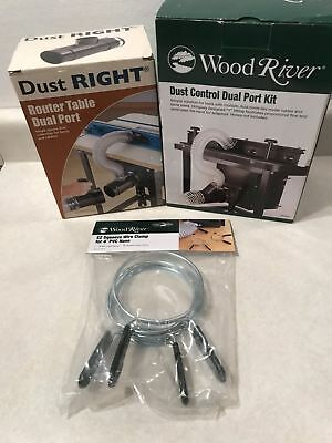 """Wood River 4X 2 1/2 Y and Dust Right 4 X 2 1/2"""" T Ports  Plus 2- 4"""" Spring Clamp"""