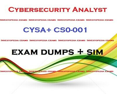 CYSA+ CS0-001 CompTIA Cybersecurity Analyst exam DUMPS question and simulator