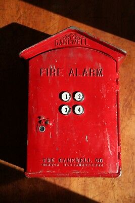 Vintage Gamewell Fire Alarm Call Box from Newton MA Massachusetts- Metal