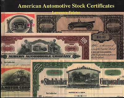 American Automotive Stock Certificates Illustrated NEW Book FREE Shipping in USA