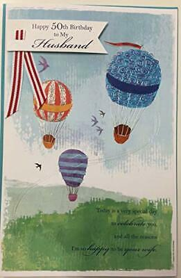 50th Birthday Card for Husband With Lovely Verse