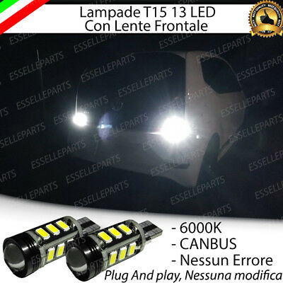Coppia Luci Retromarcia 13 Led T15 W16W Canbus Volkswagen Up Restyling No Avaria