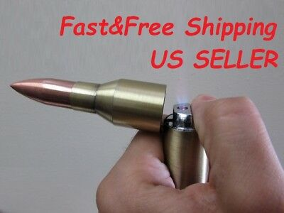 "1X Full Size 6"" Bullet TORCH Lighter Refillable Multipurpose Cigarette Outdoor"