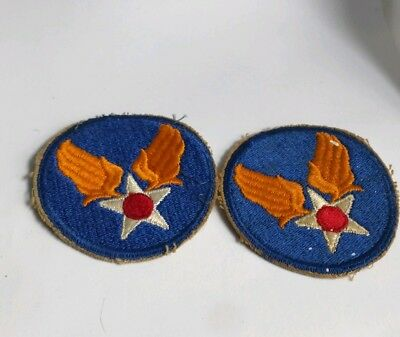 Wwii Original Us Army Air Forces Patch On Twill Bombers Usaaf