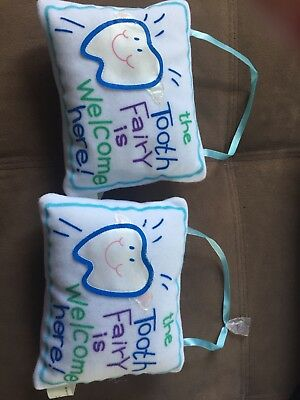 tooth fairy pillow cute white gender neutral
