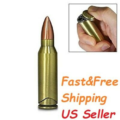 1 Full Size Magnetic GUN PISTOL BULLET Lighter Refillable Multipurpose Cigarette
