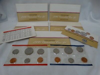 1986 Us Mint Uncirculated Coin Sets