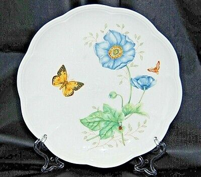 """Lenox Butterfly Meadow Plate """"Monarch"""" 9 1/8"""" Accent Luncheon Plate"""