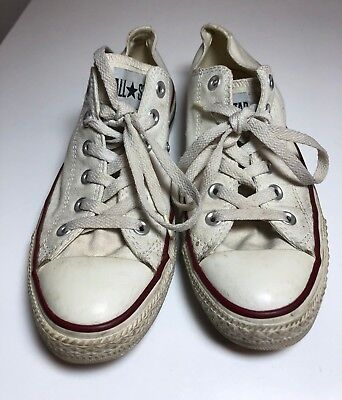 055a3452f9c5 Converse All Star Women s Shoes Size 8 White Canvas Athletic Chuck Taylor  M7652