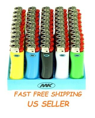 10 Full Size MK GRIP LIGHTER Multipurpose Disposable Mix Color Cigarette Outdoor