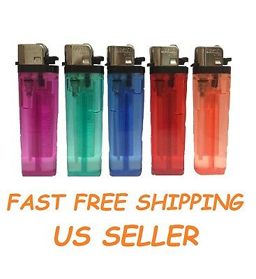 5 Full Size Disposable Classic Cigarette Lighters Mix Color Multipurpose Lighter
