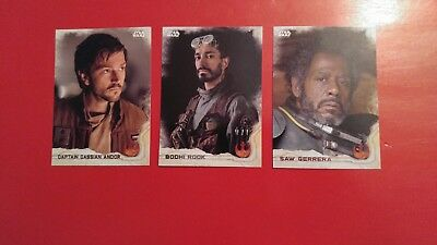 11 Star wars rogue one trading cards
