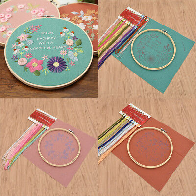 DIY Flower Floral Decoration Embroidery Practice Kits Craft Tools Accessories