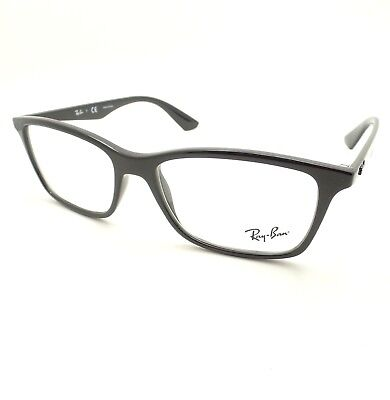4bf492fd89c Ray Ban 7047 2000 Shiny Black Eyeglass Frame New Buyer Picks Size AUTHENTIC