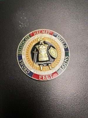 BEAUTIFUL Put on the Whole Armor of God Ephesians Christian Sword Challenge Coin