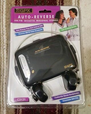 NEW/SEALED Vintage GPX AM/FM Cassette Personal Stereo Auto-Reverse W/Headphones