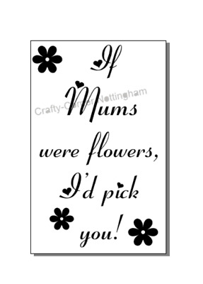 Vinyl Decal Sticker Wine bottle If Mums were flowers I'd pick you Mothers day